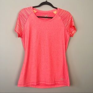 Under Armour   Bright Coral Athletic Tee